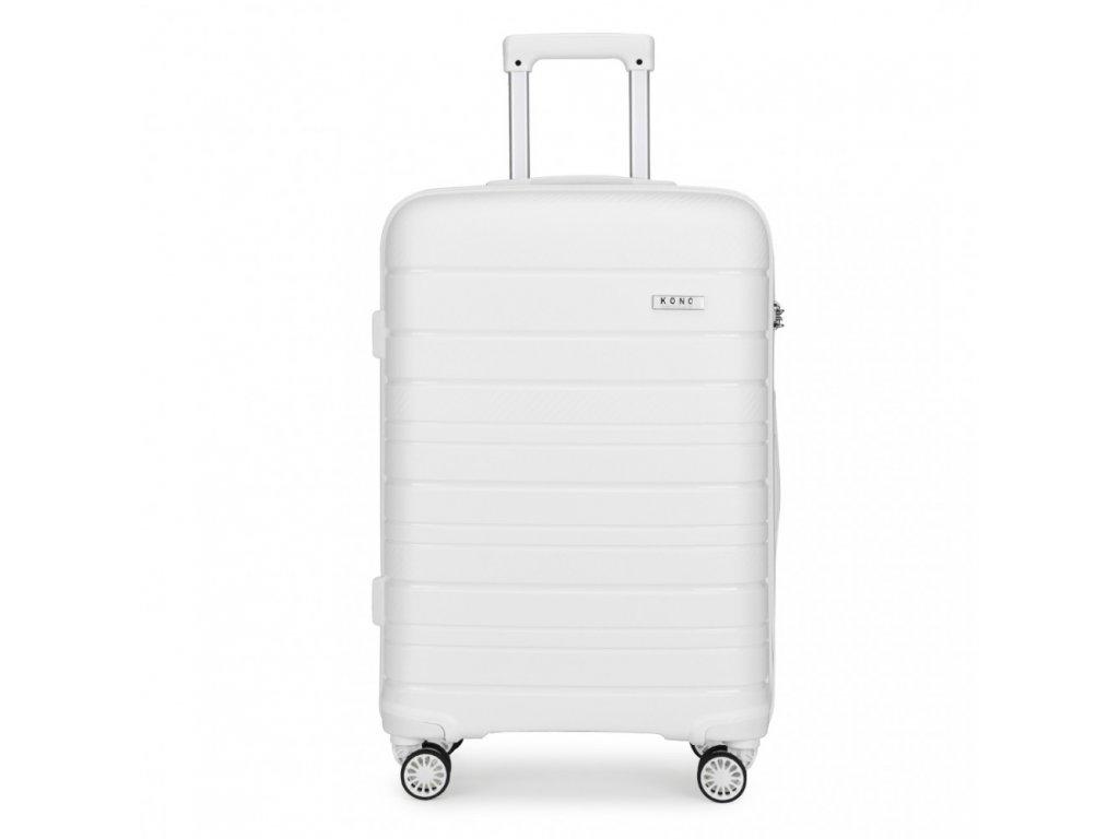 Cestovný kufor na kolieskach Classic Colection - biely