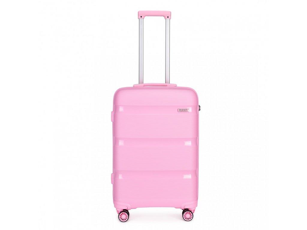 Cestovný kufor na kolieskach Classic Colection - ružový