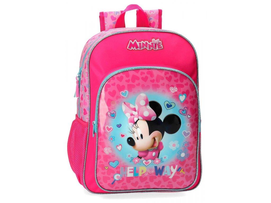 Rozkošný detský jednokomorový batoh Minnie Help 2 - ružový