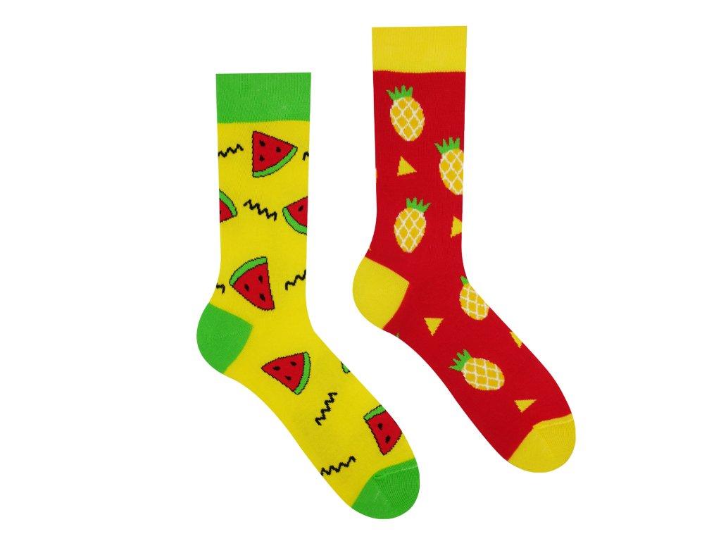 Veselé ponožky Melón a Ananás