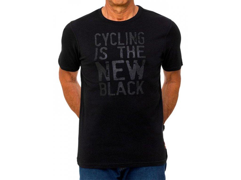 Tričko Cyklistika je nová Čierna