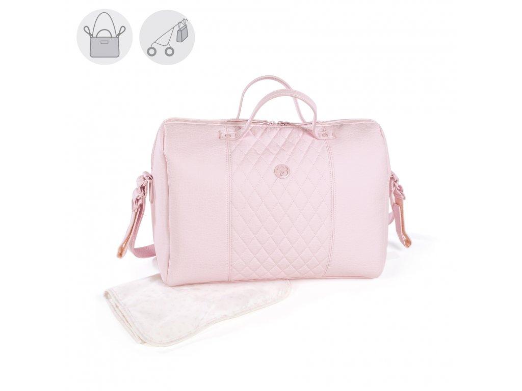 Cestovná prebaľovacia taška na kočík Pasito a Pasito María - ružová