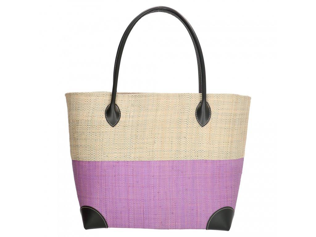 Plážová taška / košík Rafia Mand - fialová
