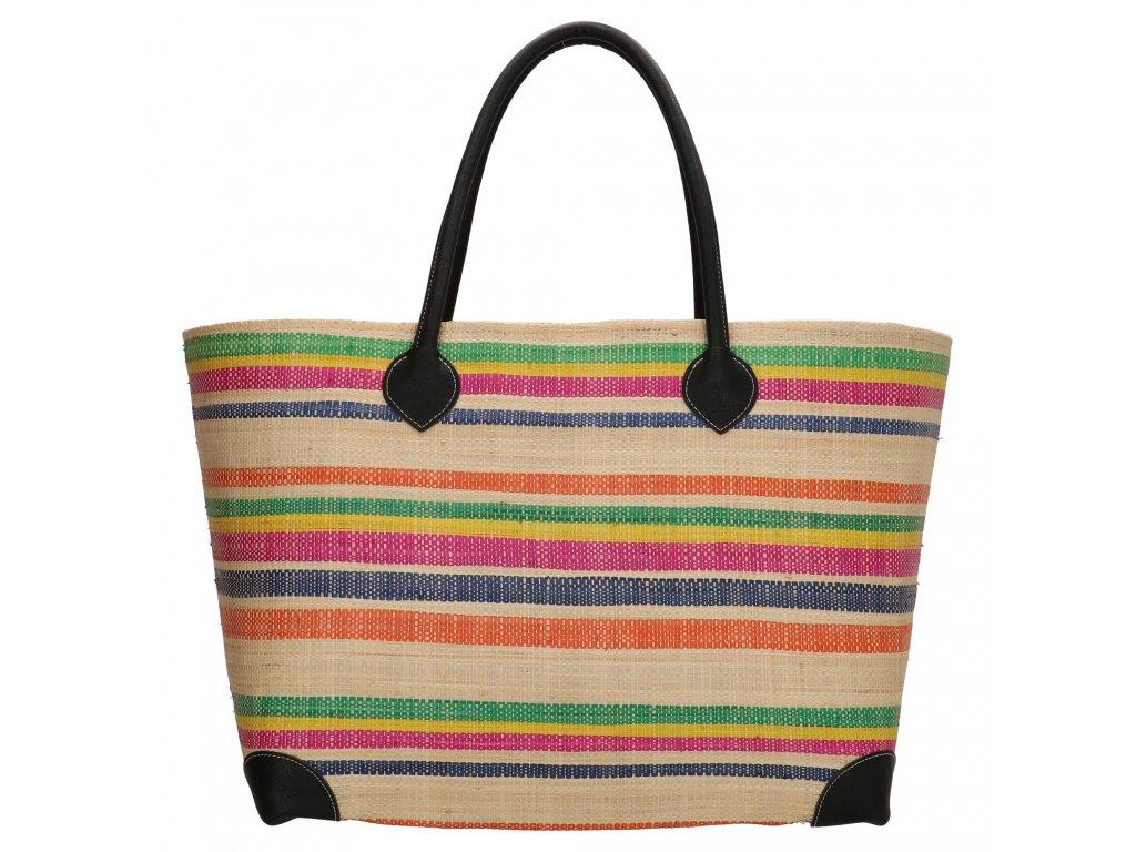 Plážová taška / košík Rafia Mand - multicolor