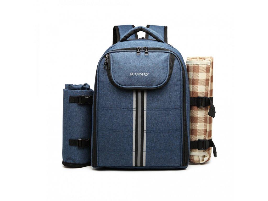 Piknikový batoh s dekou KONO - modrý