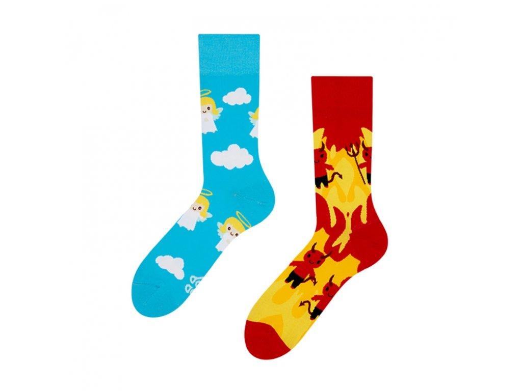 Veselé ponožky Anjel / Diabol