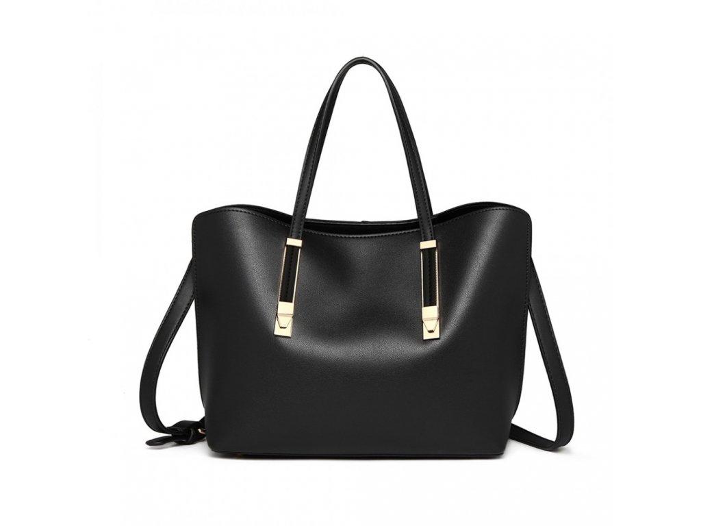Dámska klasická elegantná kabelka Lucy - čierna