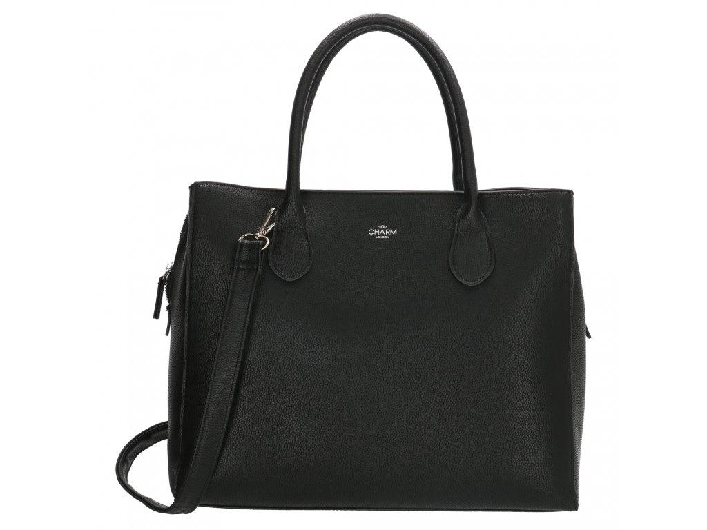 Biznis kabelka na laptop Charm London Stratford - čierna