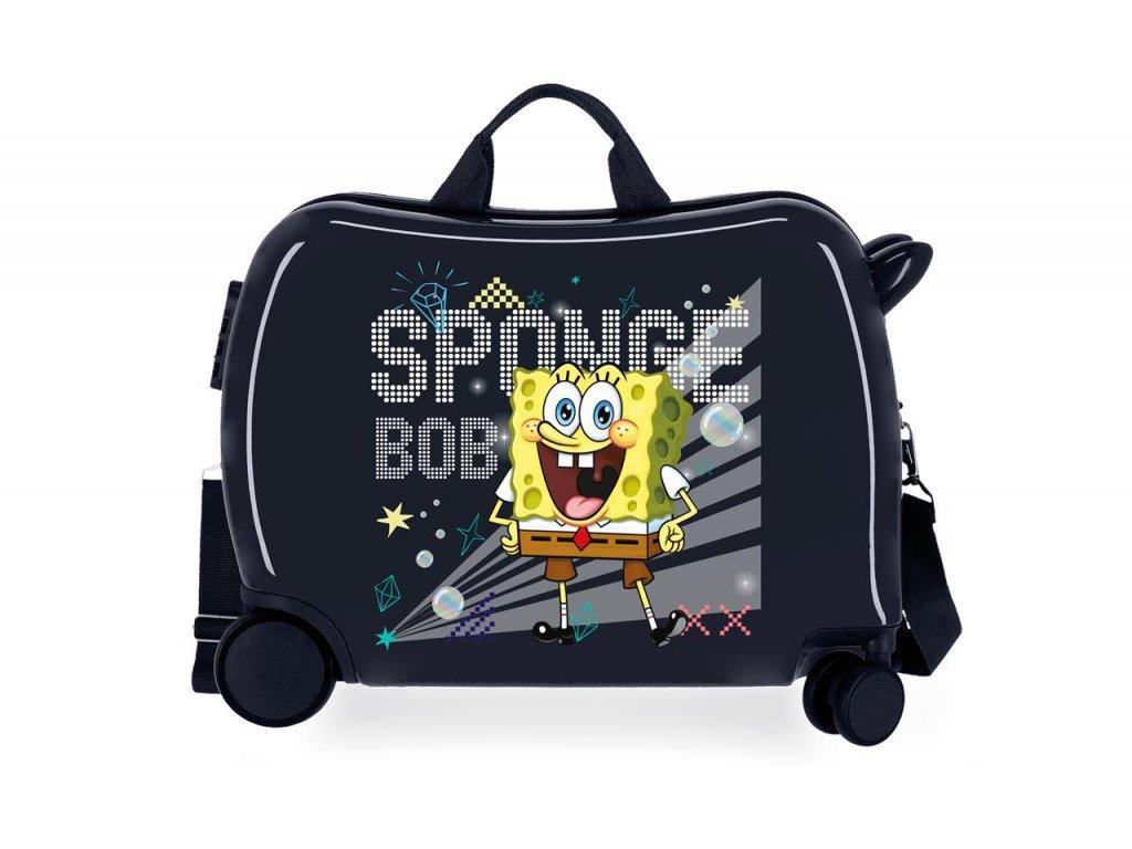Detský kufor na kolieskach - odrážadlo - Team Bob Party Bpb Sponge