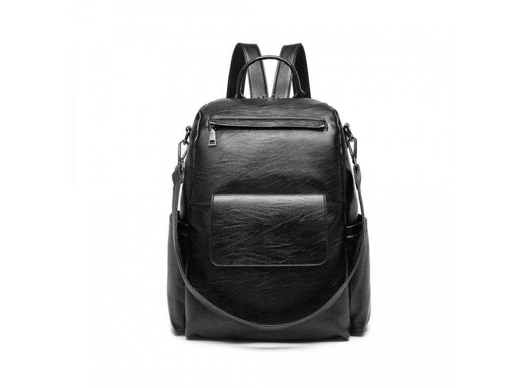 Štýlový rockový batoh Dara - čierny