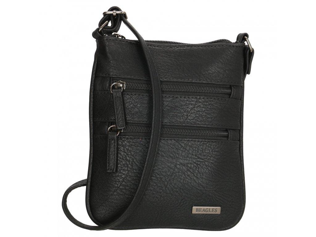 Kompaktná crossbody taška Beagles Alcale de Heneras - čierna