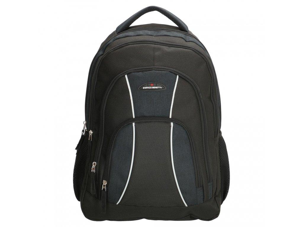 "Praktický batoh na notebook 17,1"" Enrico Benetti Martinique - čierny"