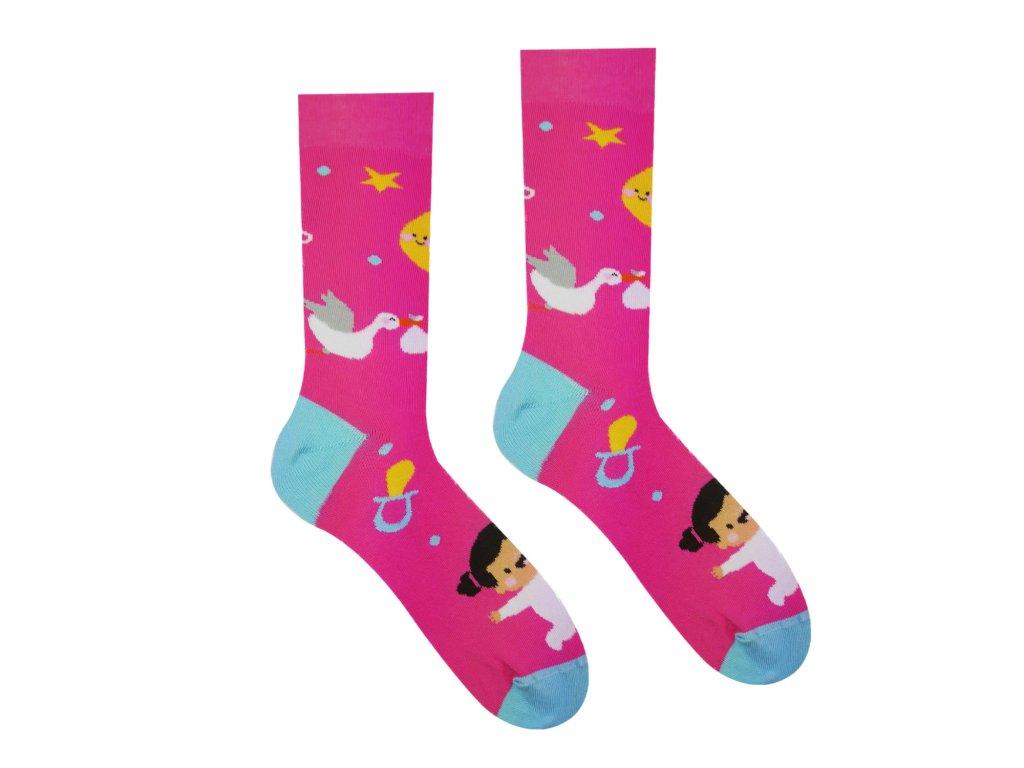 Veselé ponožky Bude to dievčatko