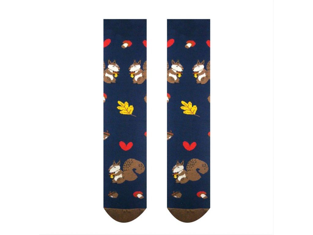 Veselé ponožky Veverička