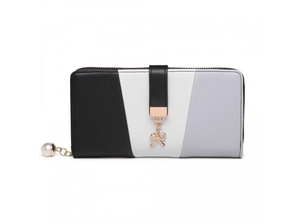 Moderná dámska peňaženka Fansy - čierna
