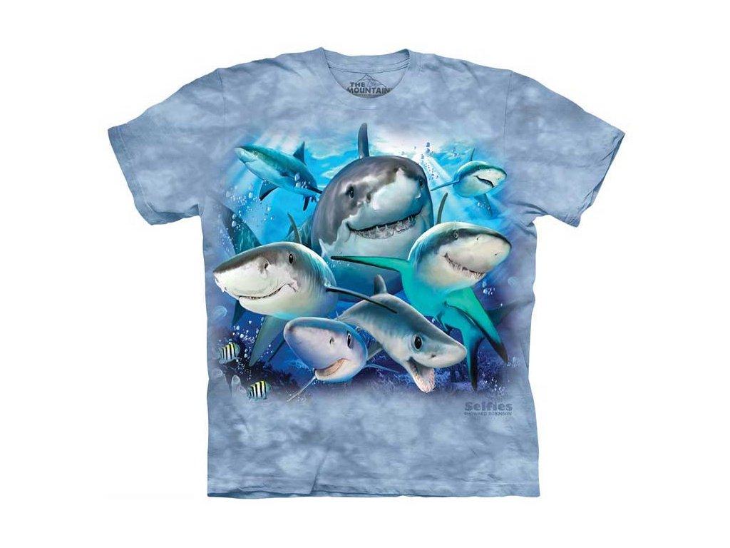 Detské tričko Selfie žraloci