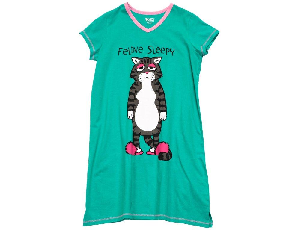 Dámska nočná košeľa Mačka