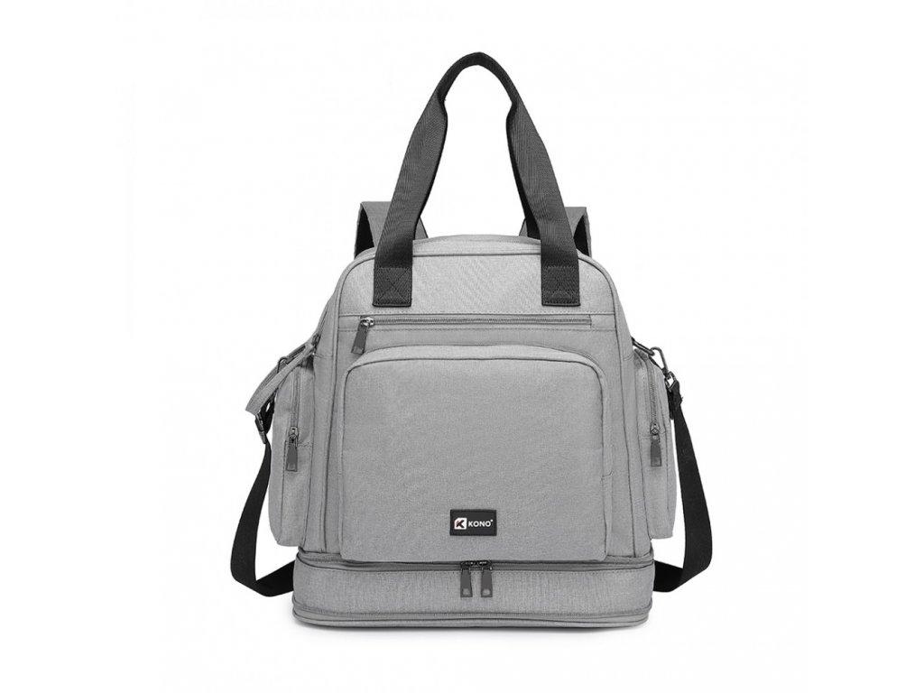 Multifunkčný MAMA batoh/taška KONO Baby - sivý
