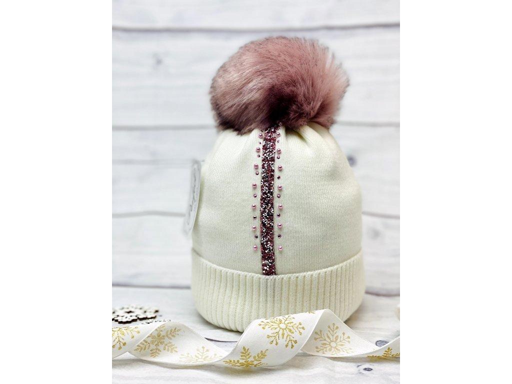 Dámska zimná čiapka Evita - biela
