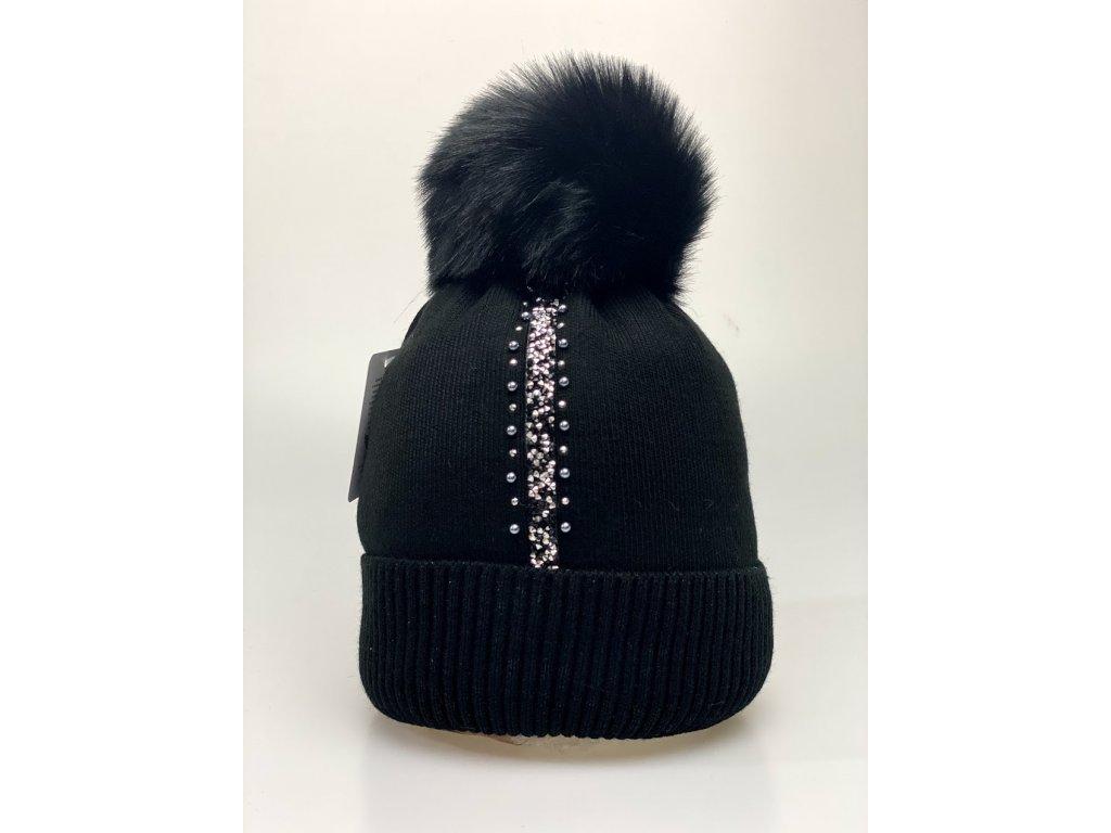 Dámska zimná čiapka Evita - čierna