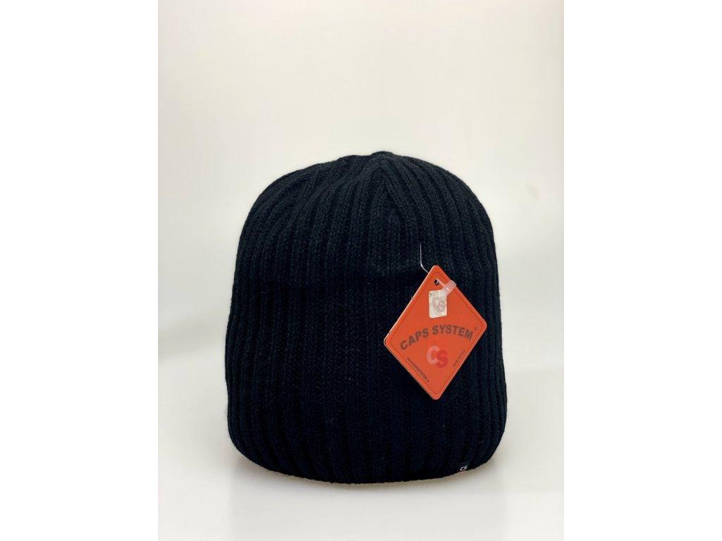Pánska zimná čiapka - čierna - CAPS SYSTEM