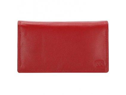 Kožená dámska peňaženka Double-d - červená
