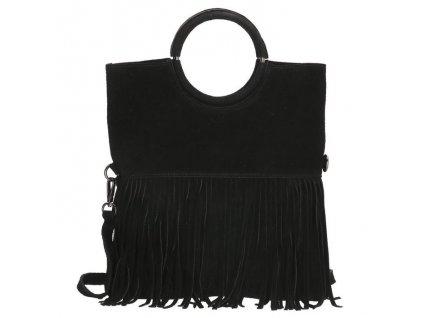 Dámska kožená kabelka Charm London Elisa -  čierna
