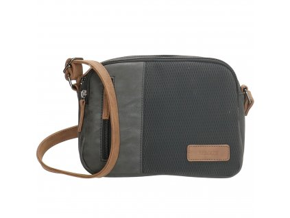 Mini kabelka crossbody Beagles brunete - čierna