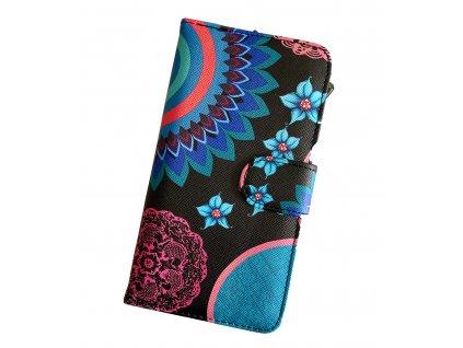 Dizajnová peňaženka Floral Mood Black