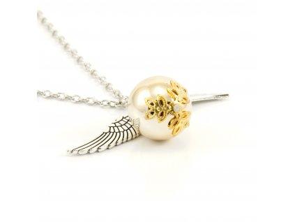 Harry Potter náhrdelník Zlatá strela