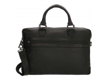 Kožená biznis taška na notebook Micmacbags Montana 15,6 inch (38 cm) - čierna