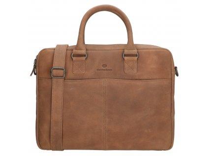 Kožená biznis taška na notebook Micmacbags malmö 15,6 inch (38 cm) - hnedá