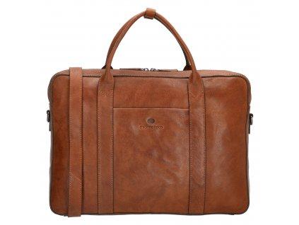Kožená biznis taška na notebook Micmacbags legacy 15,6 inch (38 cm) - koňaková