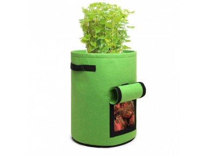 KONO 38L filcová nádoba na pestovanie zeleniny - zelená