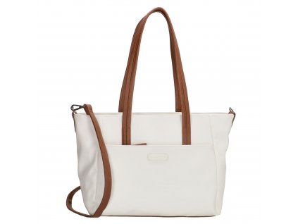 Dámska taška shoperka Beagles Xornes - biela