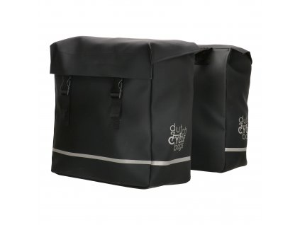 Praktické tašky na bicykel Dutch cycle bags urban double - čierna
