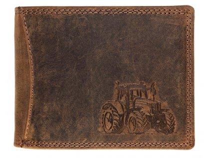 Luxusná kožená peňaženka s traktorom