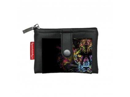 Dizajnová kľúčenka/peňaženka Black Panther