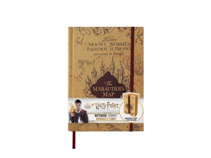Zápisník A5 Harry Potter Záškodnícka mapa - The Marauders Map