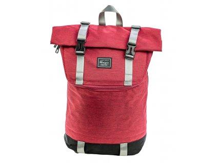 Mestský unisex batoh typu messenger Maiqiu Trade Mark - červený