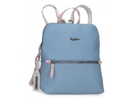 Dámsky elegantný batoh Pepe Jeans Zaida hranatý - modrý