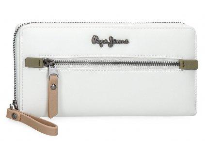 Dámska elegantná peňaženka Pepe Jeans Zaida - biela