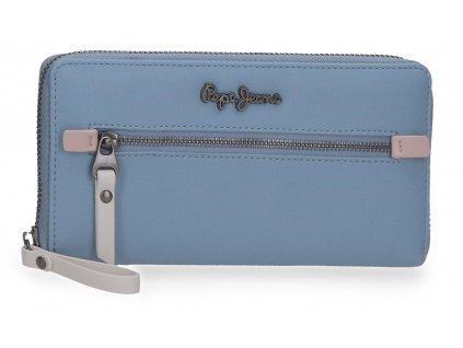 Dámska elegantná peňaženka Pepe Jeans Zaida - modrá