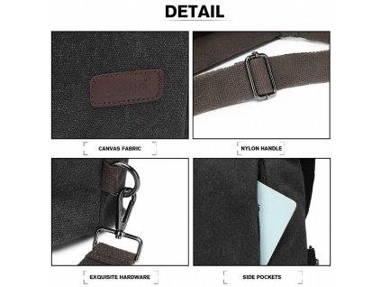 Taška a batoh v jednom Kono Saviora - čierna