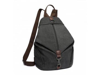 Plátený batoh proti vykradnutiu Kono Saviora - čierny