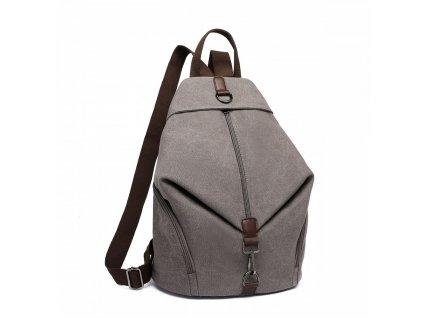 Plátený batoh proti vykradnutiu Kono Saviora - sivý