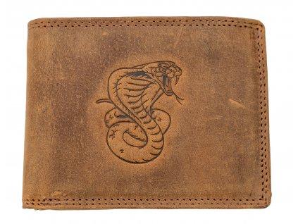 Luxusná kožená peňaženka s kobrou
