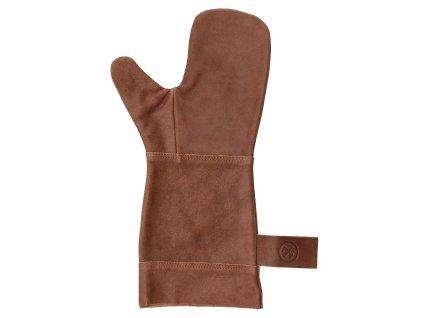 Kožená grilovacia ochranná rukavica Hide & Stitches barbecue - hnedá