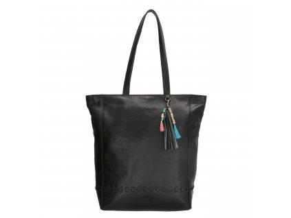 Dámska kožená taška shoperka Micmacbags friendship - čierna