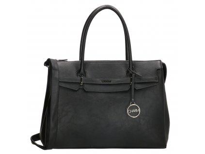 "Elegantná dámska kabelka na notebook Charm London Bromley - 15,6 ""(38 cm) - čierna"